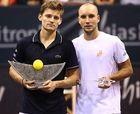 05/10/2014 - MONS - ATP Challenger Tour - ETHIAS TROPHY -  Finale simple David GOFFIN (BEL) - Steve DARCIS (BEL) ©Vincent Van Doornick / IMAGELLAN